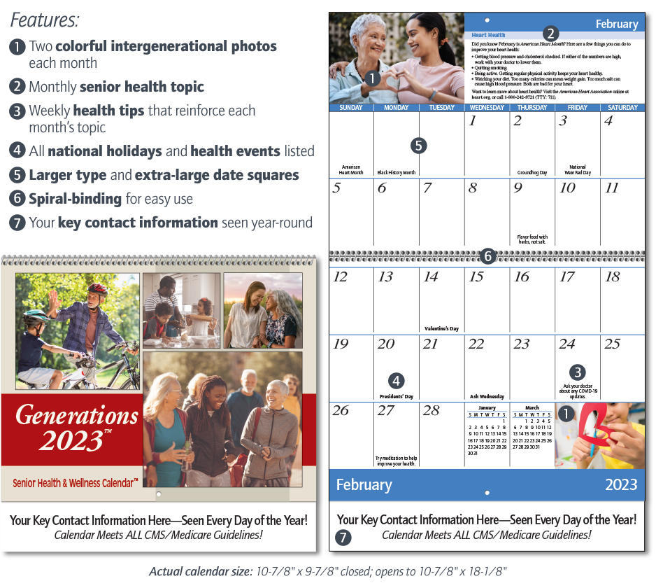 Generations - Senior Health & Wellness Calendar