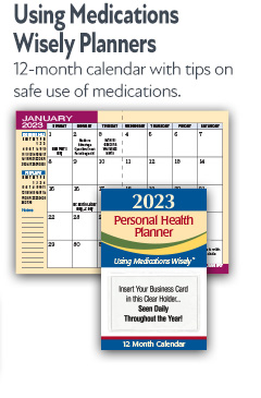 Using Medications Wisely Planners